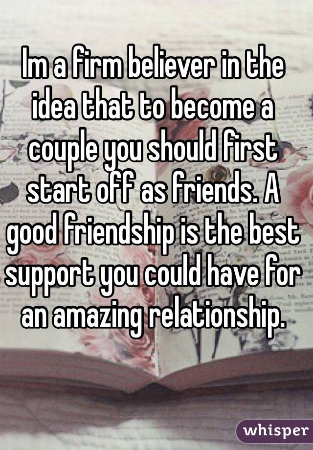 Can friends become a couple
