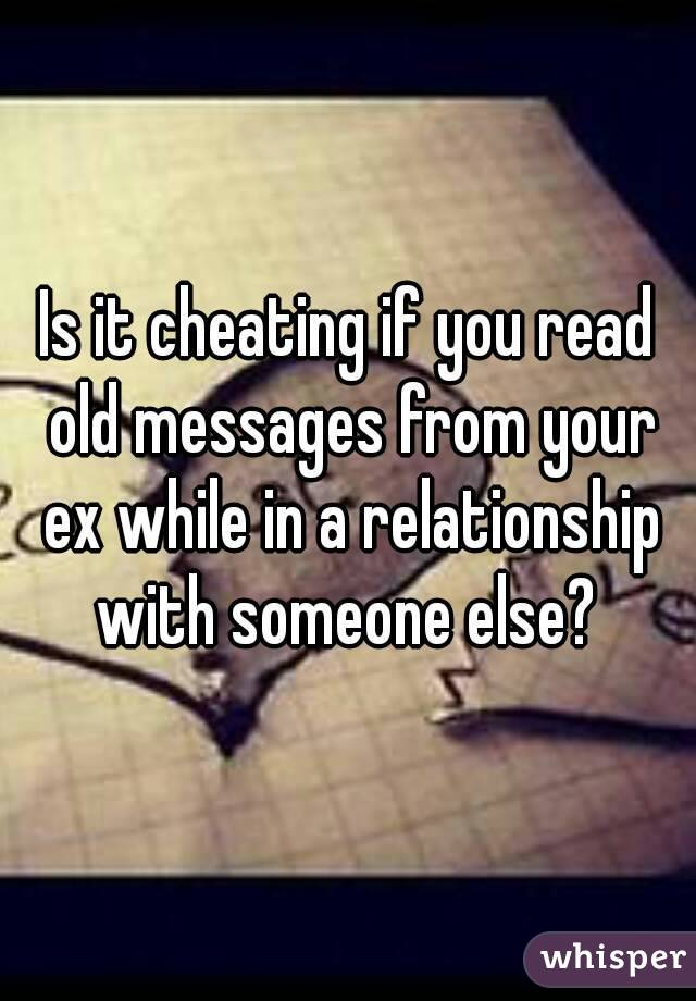 Is it cheating if