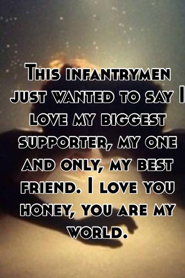 i love you my one and only