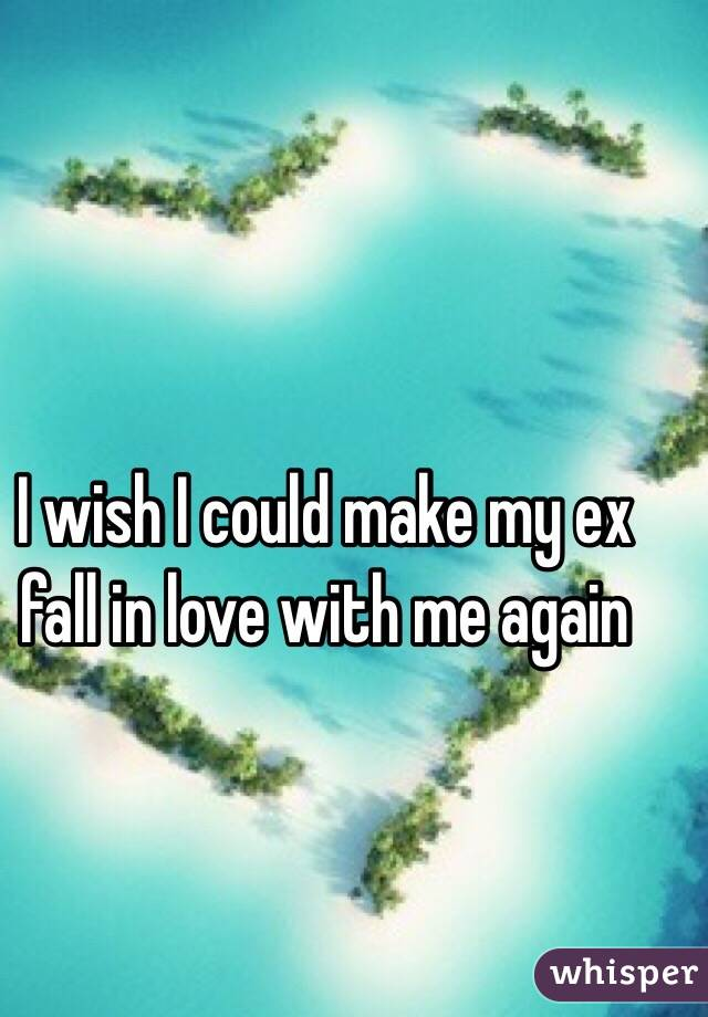 I wish I could make my ex fall in love with me again