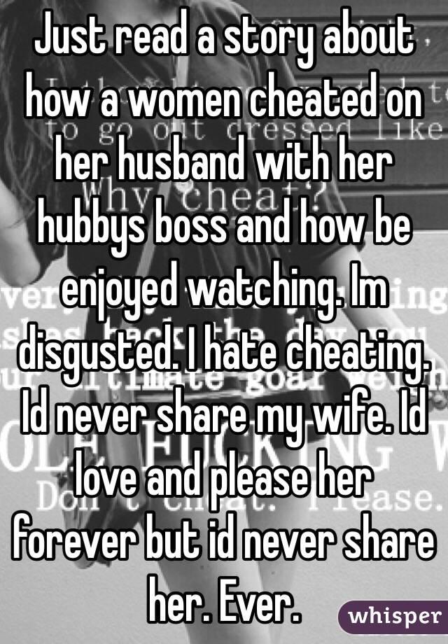 Sharing my wife watching husband