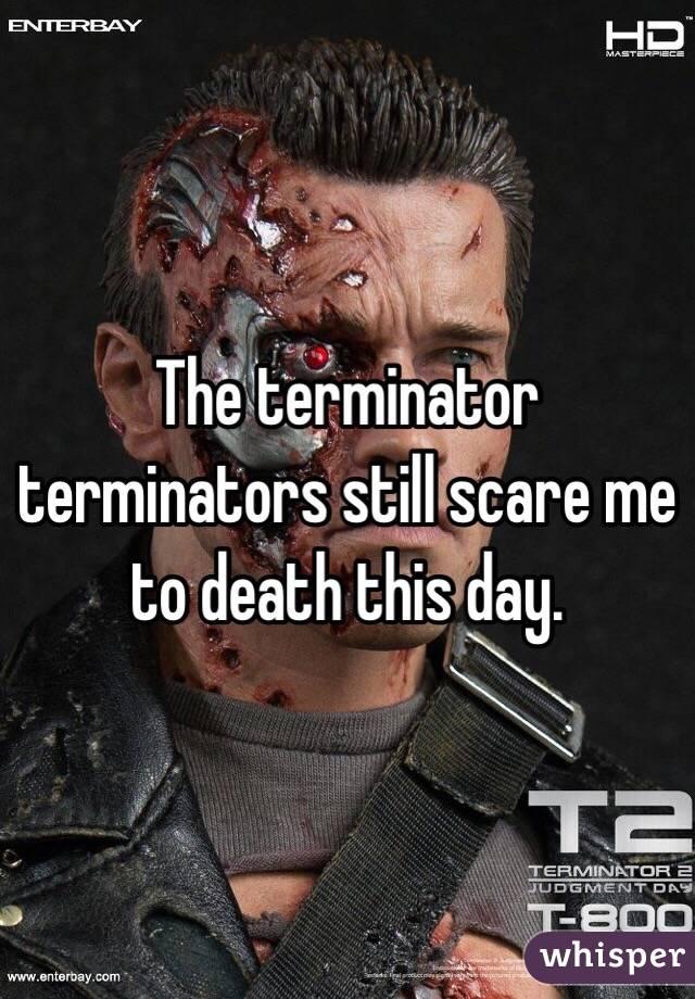 The terminator terminators still scare me to death this day.