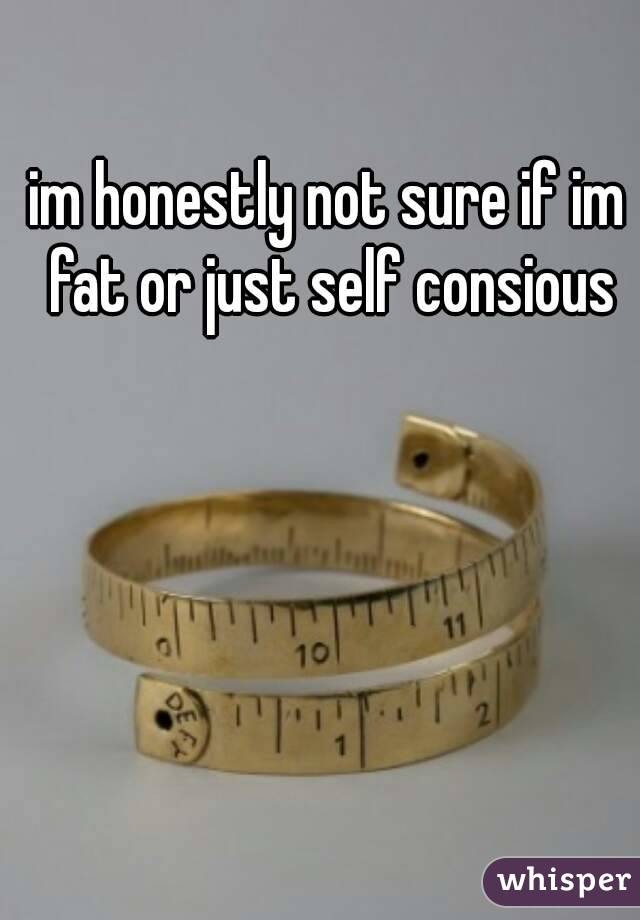 im honestly not sure if im fat or just self consious