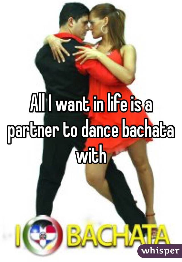 All I want in life is a partner to dance bachata with
