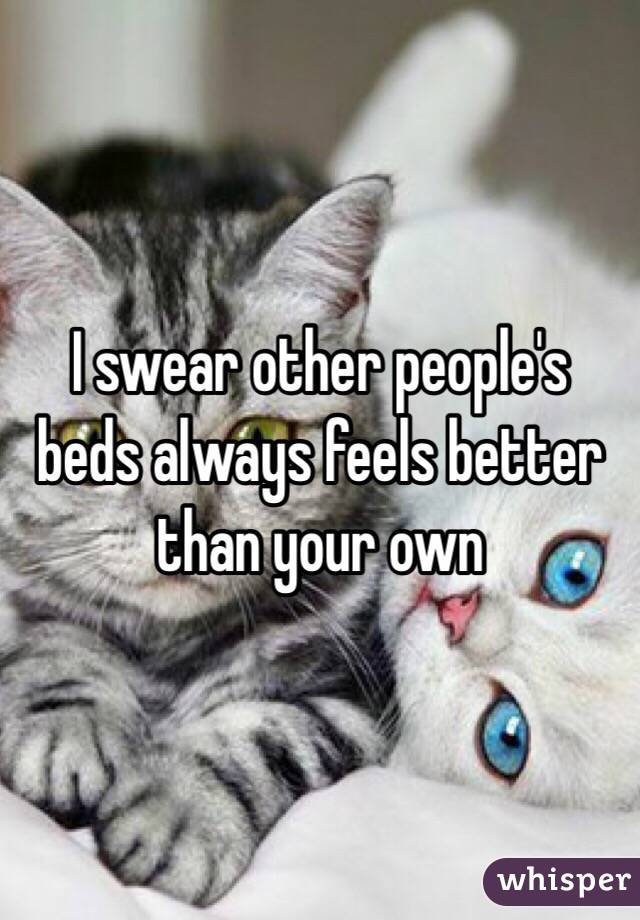 I swear other people's beds always feels better than your own