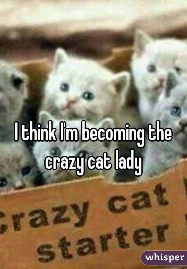 I think I'm becoming the crazy cat lady
