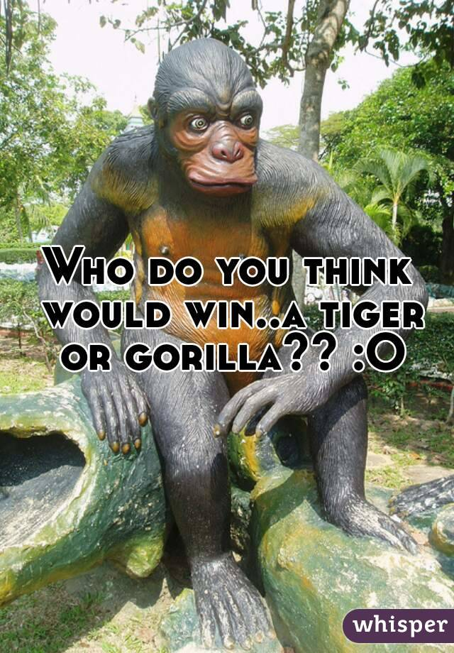 Who do you think would win..a tiger or gorilla?? :O