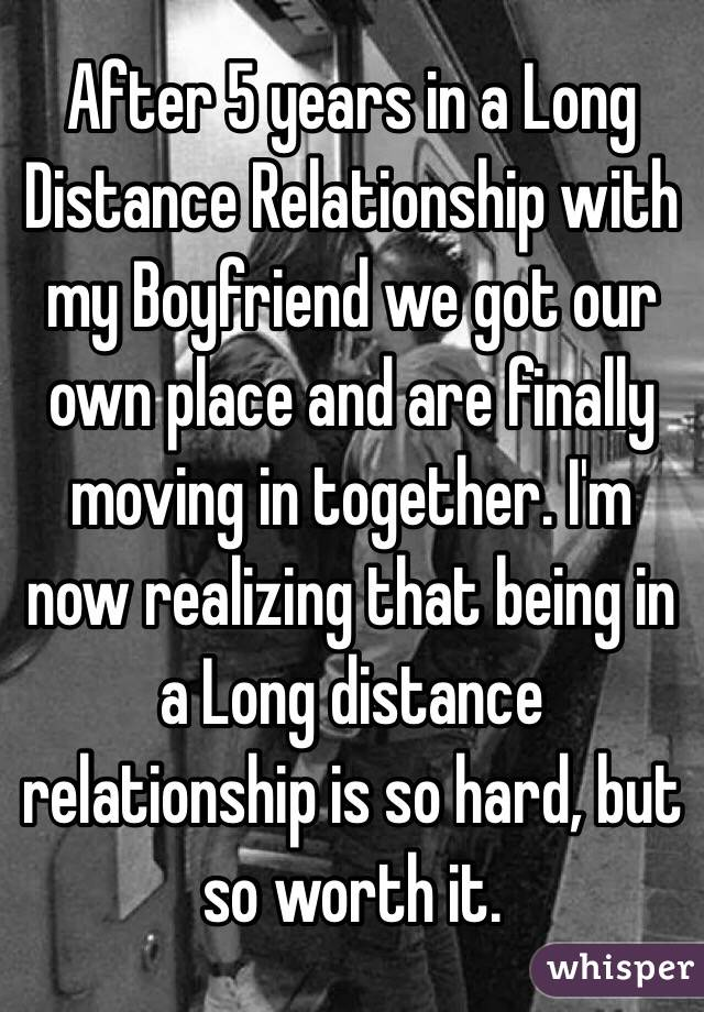 Are long distance relationships worth it