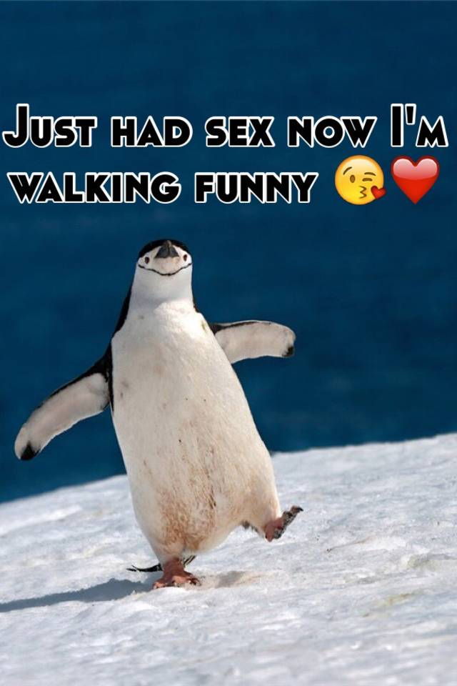 Walking funny after sex