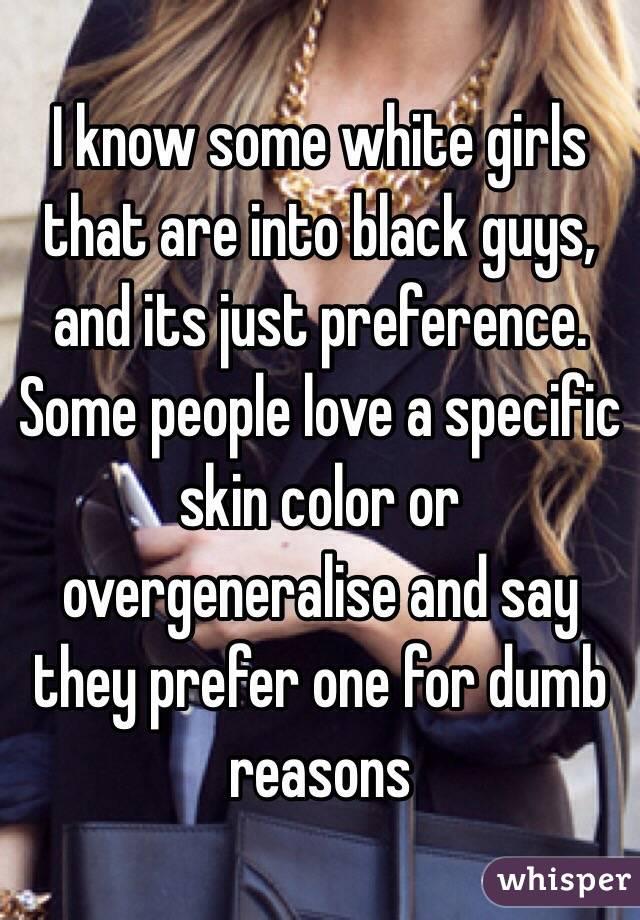 why white girls love black guys