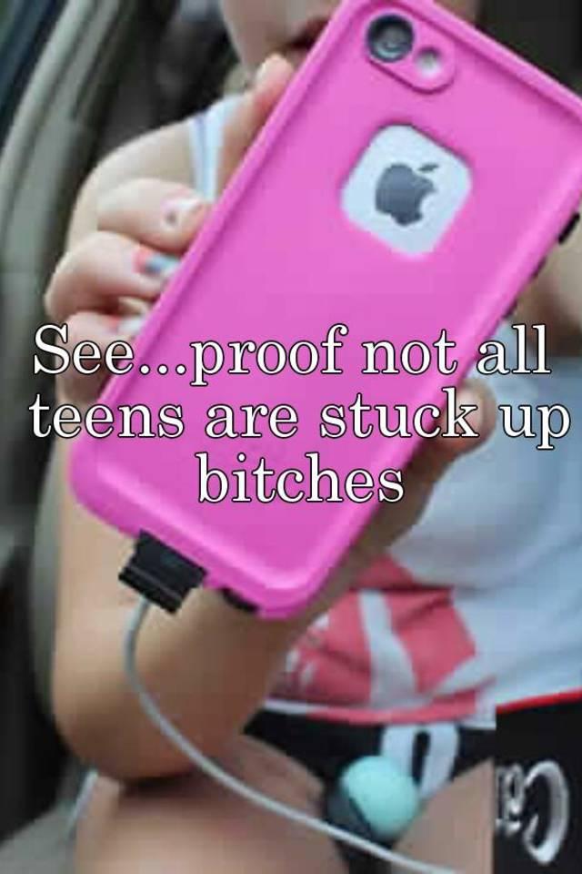 Stuck up teen