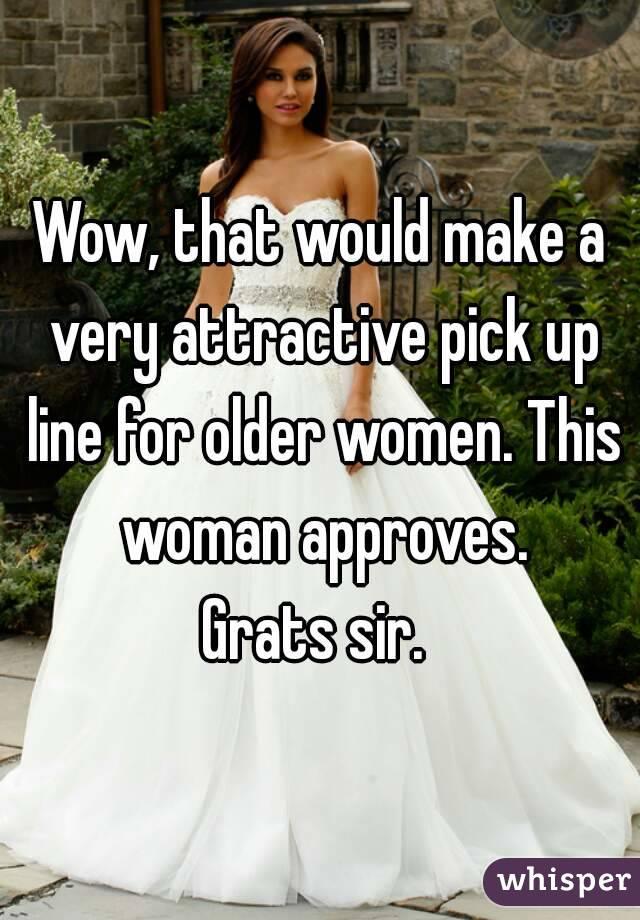 Pick Up Lines For Older Women