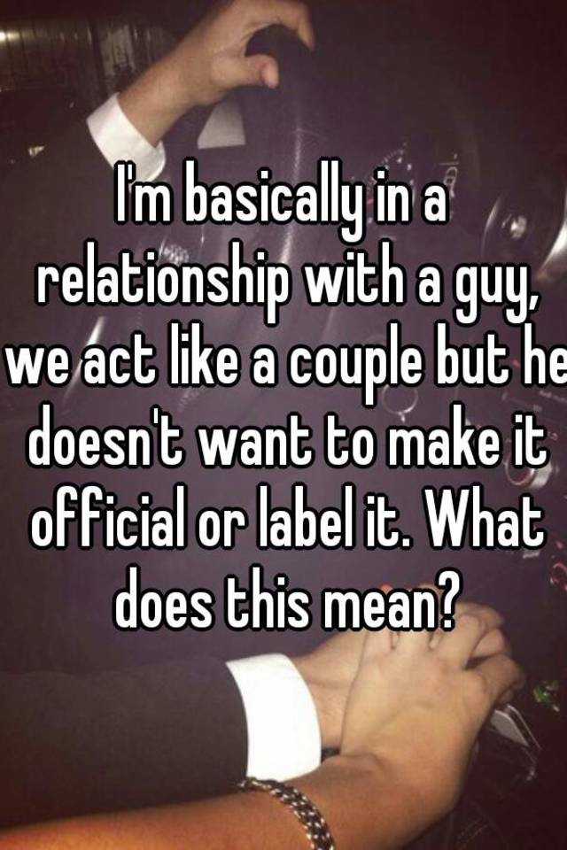 what does officially mean in a relationship