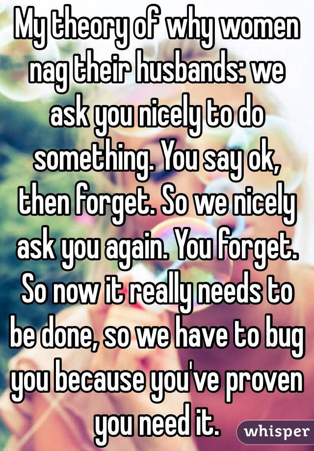 Why Do Wives Nag Their Husbands