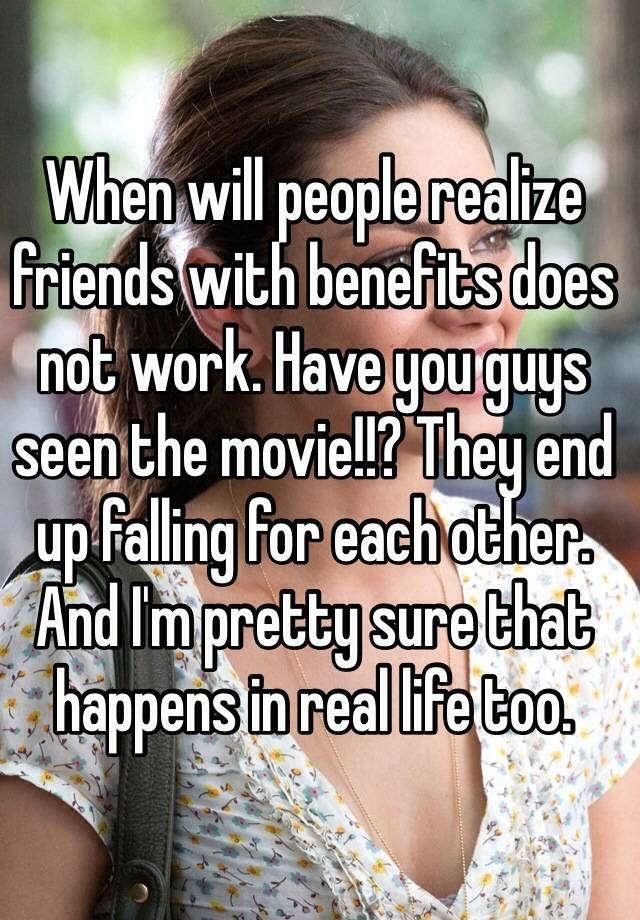 Do friends with benefits fall in love