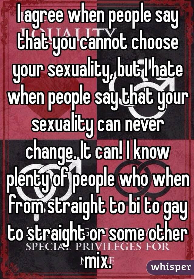 Is It Possible To Change Your Sexuality