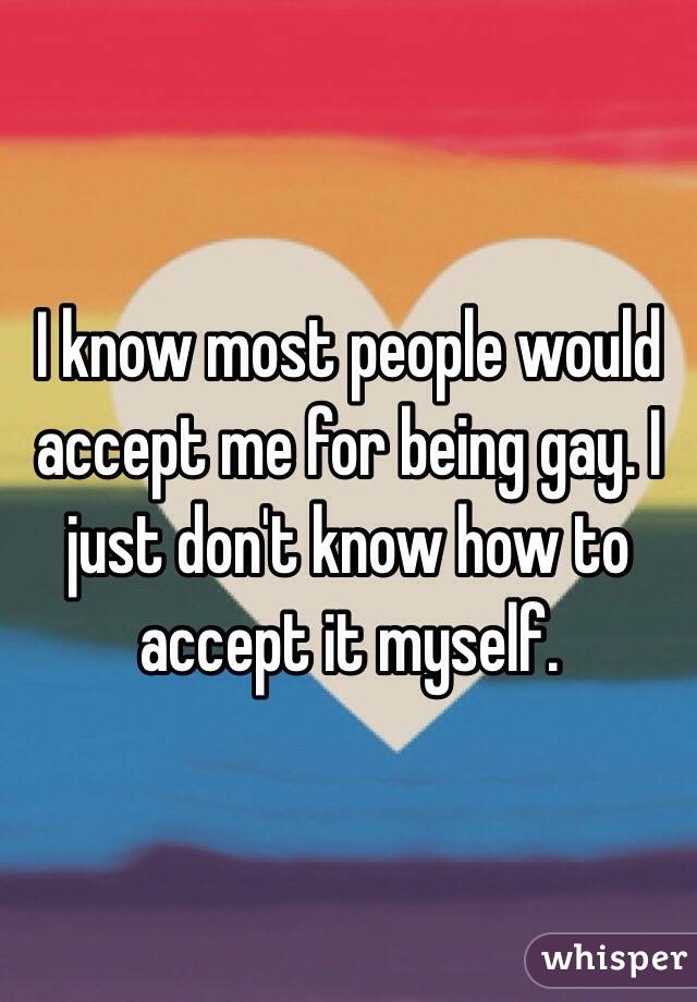 How To Accept Being Gay