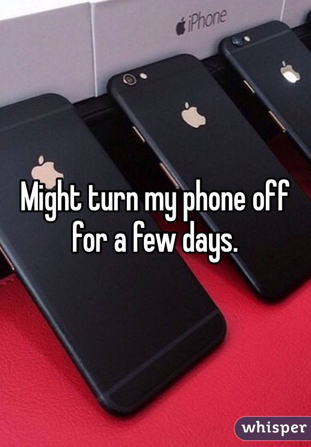 turning off phone