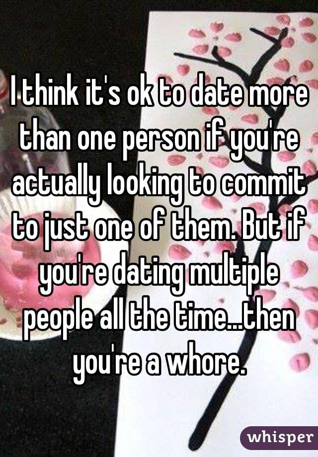 Dating more than one person at time