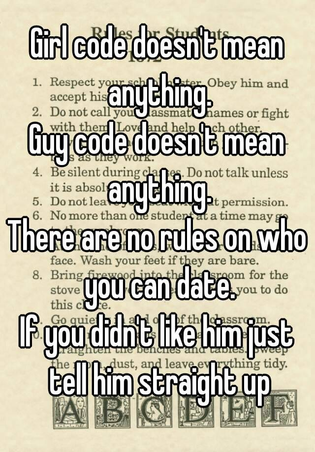 girl code rules for dating