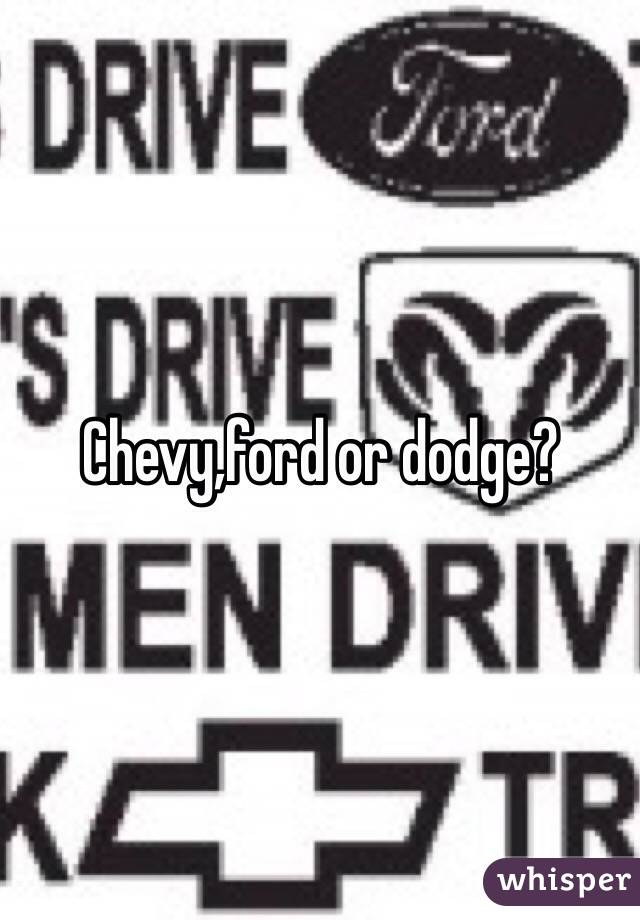 Ford Or Chevy >> Ford Dodge Or Chevy Auto Express