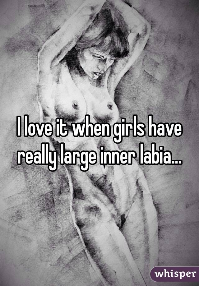 I Love It When Girls Have Really Large Inner Labia