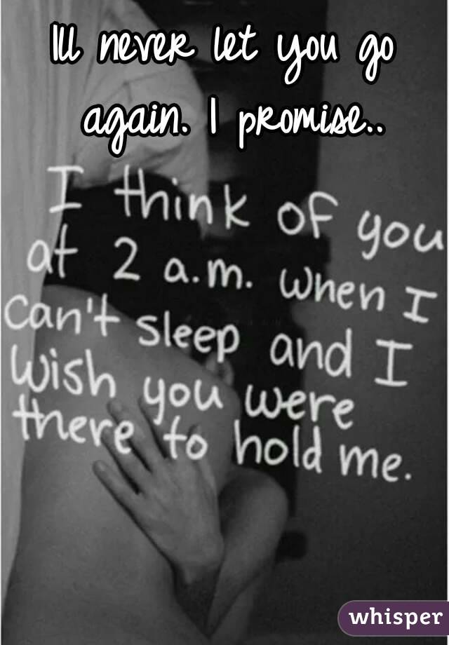 Ill never let you go again. I promise..