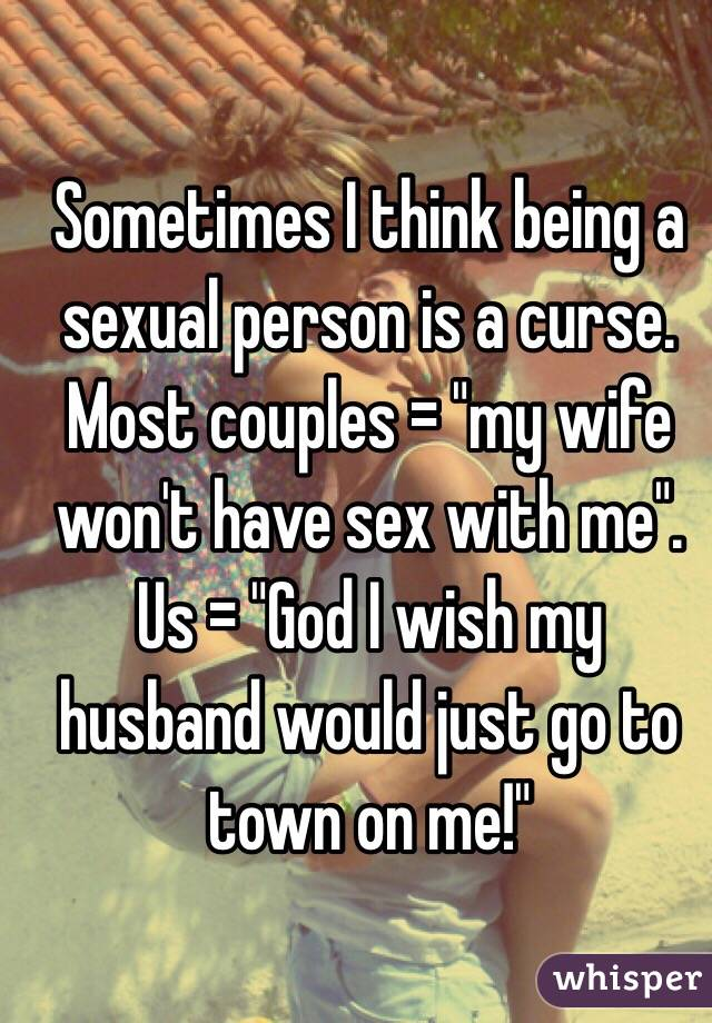 Why wont my wife have sex
