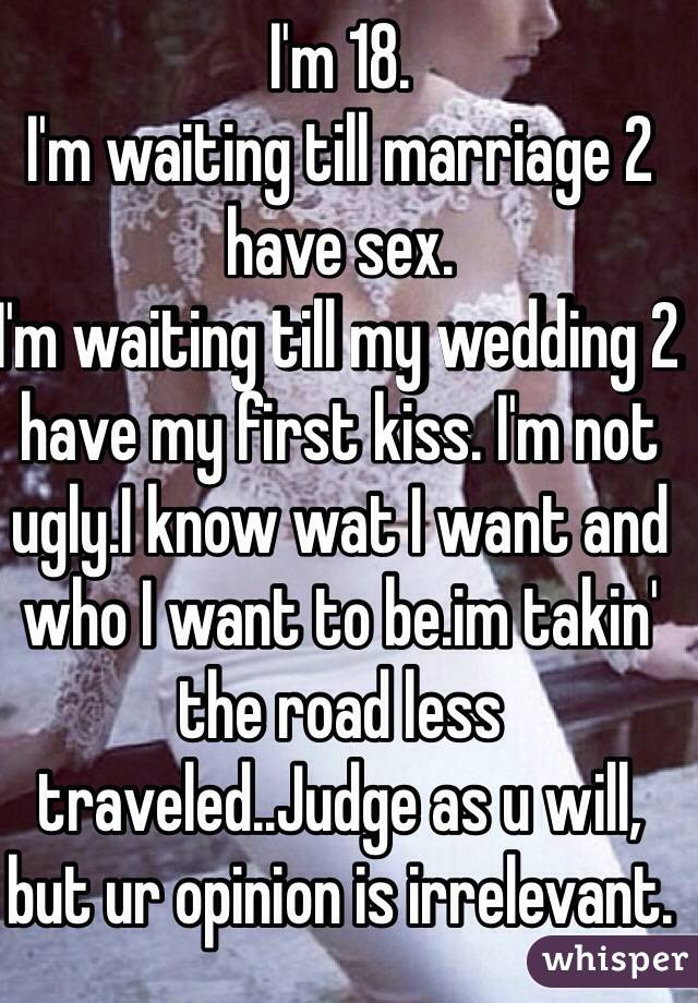 Waiting till marriage to have sex