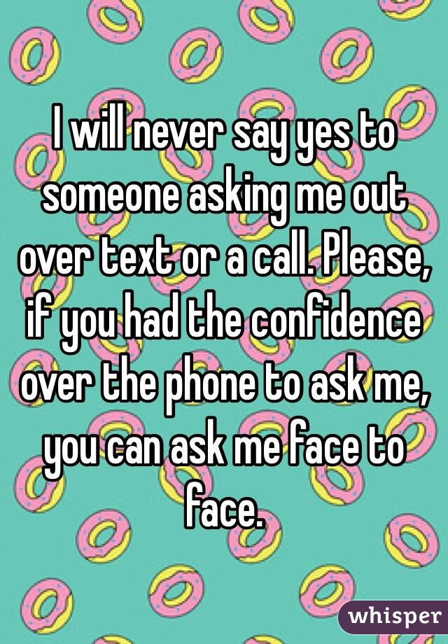 Asking someone out over text