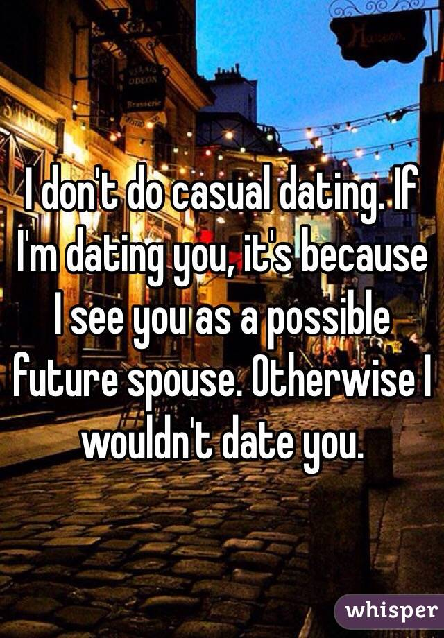 how to do casual dating