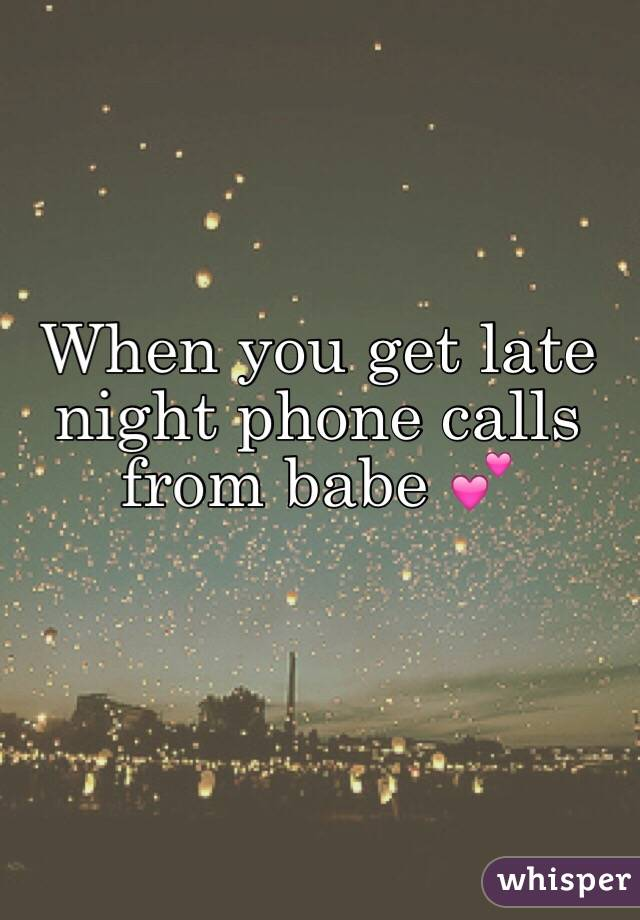 Late Night Phone Calls