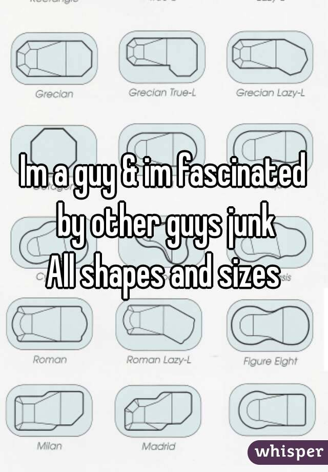 Im a guy & im fascinated by other guys junk All shapes and sizes