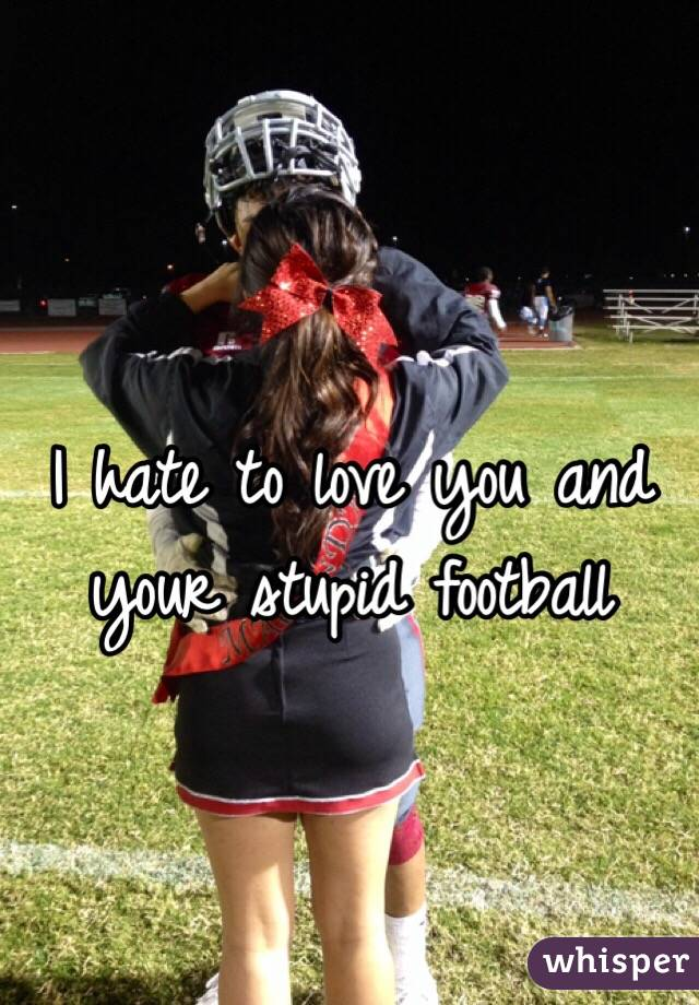 I hate to love you and your stupid football