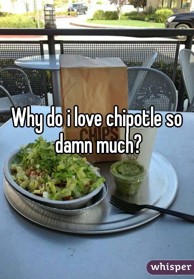 Why do i love chipotle so damn much?