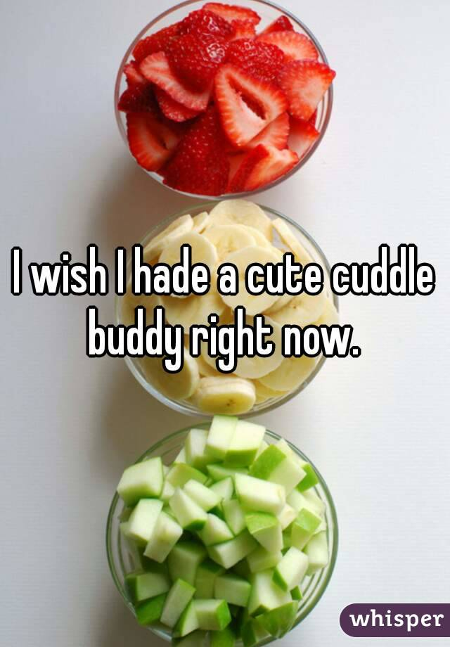 I wish I hade a cute cuddle buddy right now.
