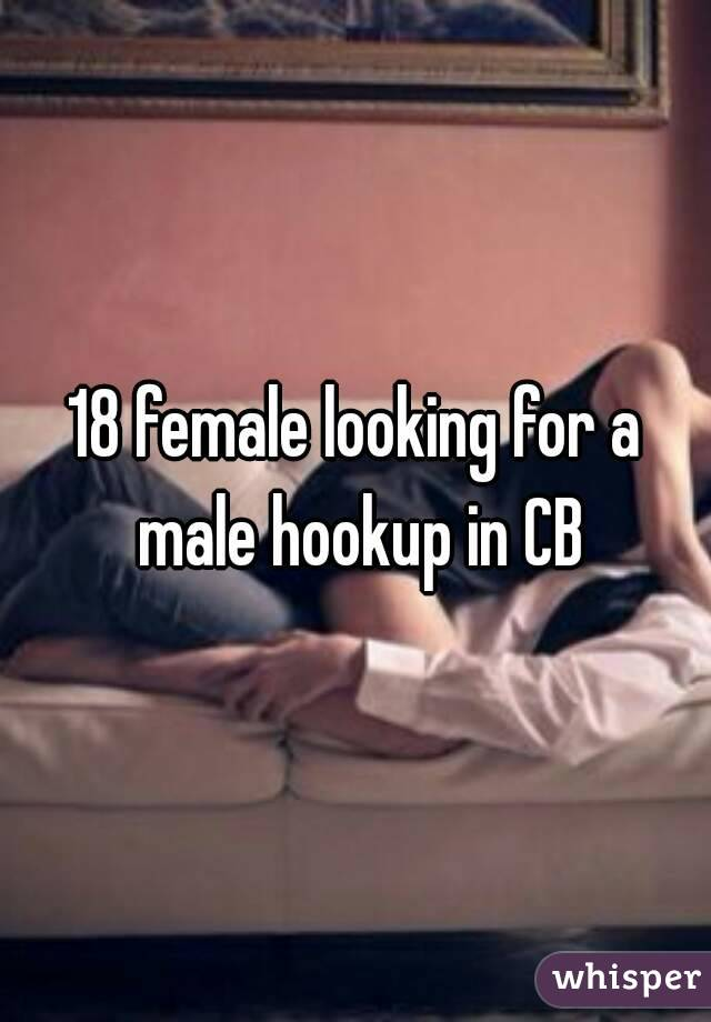 18 female looking for a male hookup in CB