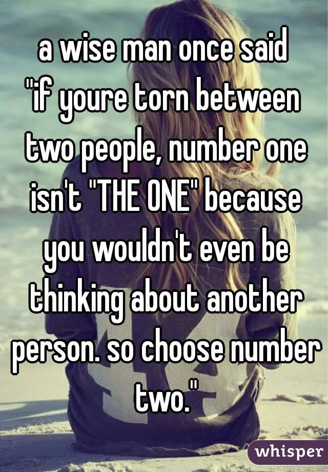 People Two To Choose How Between