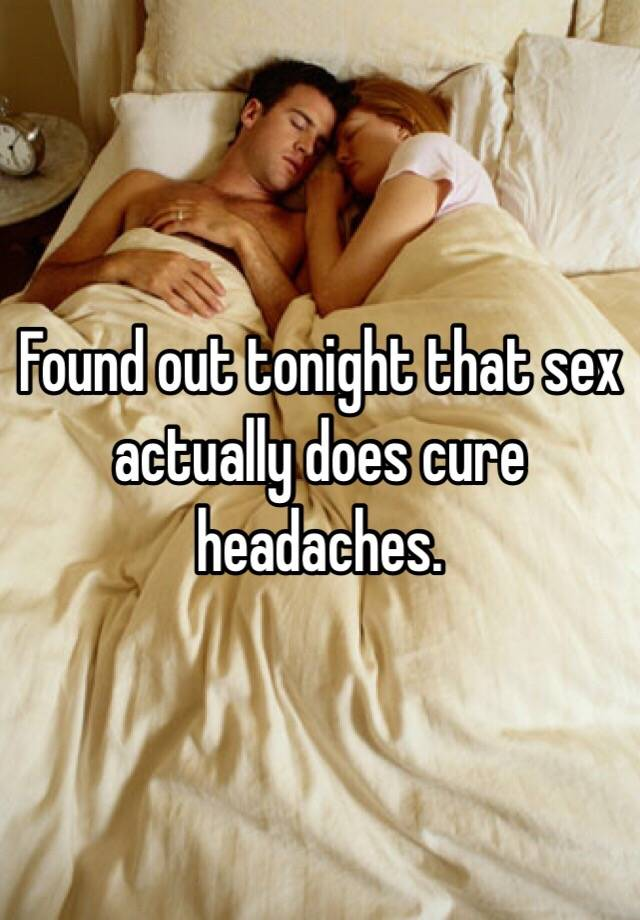 Sex can cure some headaches