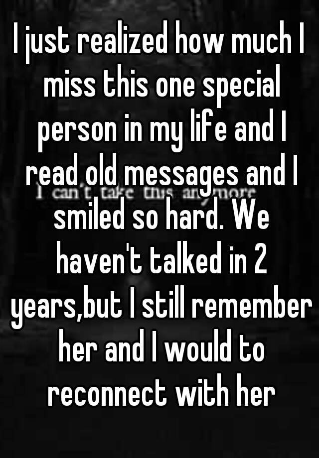 Special person in my life messages