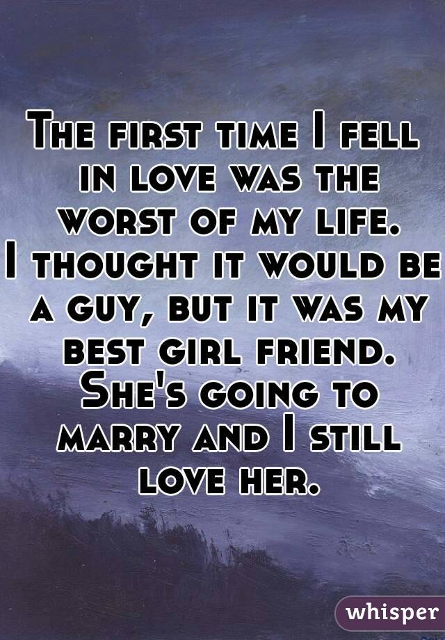 it was the first time i fell in love