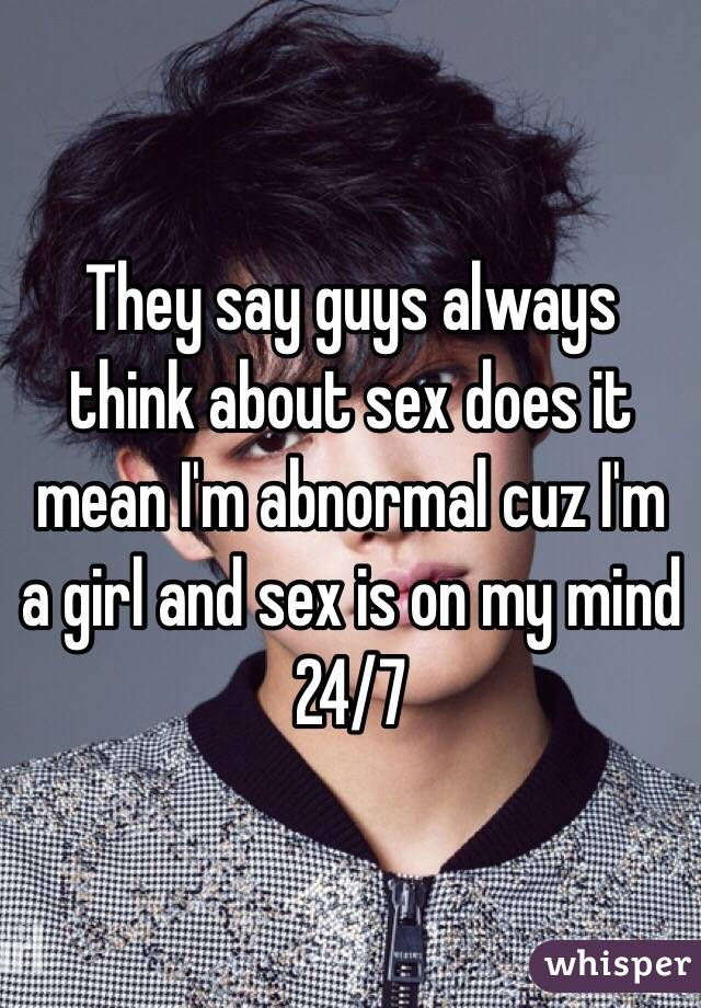 What does sex mean to guys