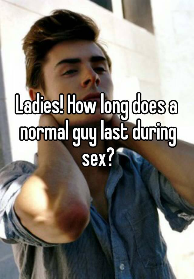 How long does the average man last in sex