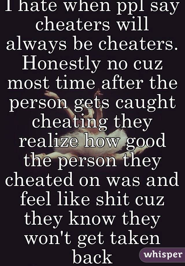 do all cheaters get caught