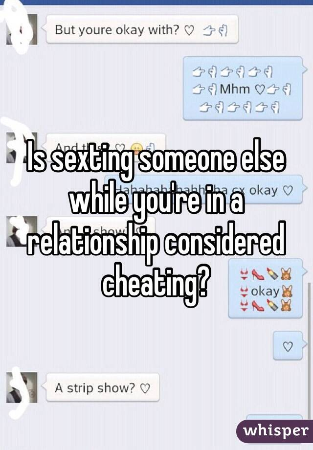 Does sexting lead to cheating
