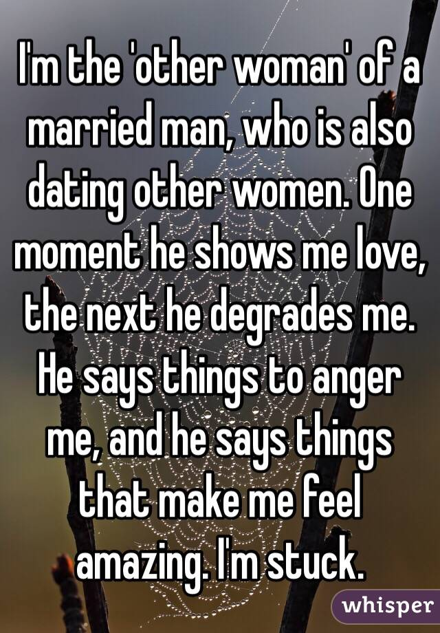 I am dating married man