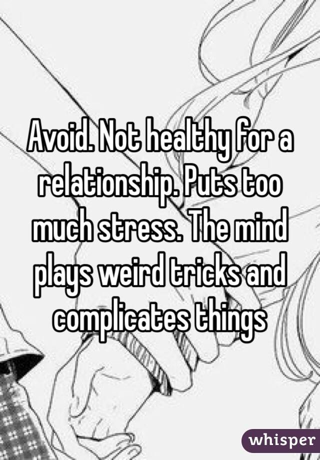 how to not stress in a relationship