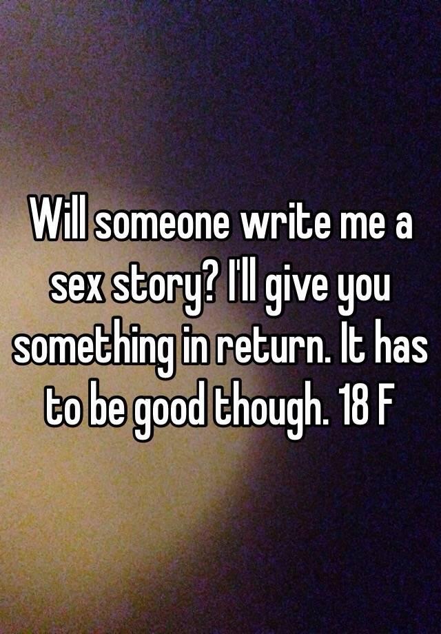 Write me a sex story