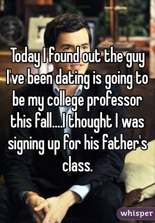 Dating My College Professor