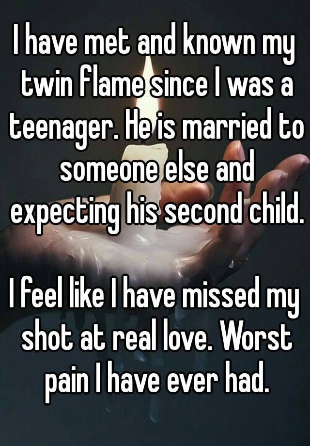 When your twin flame is married